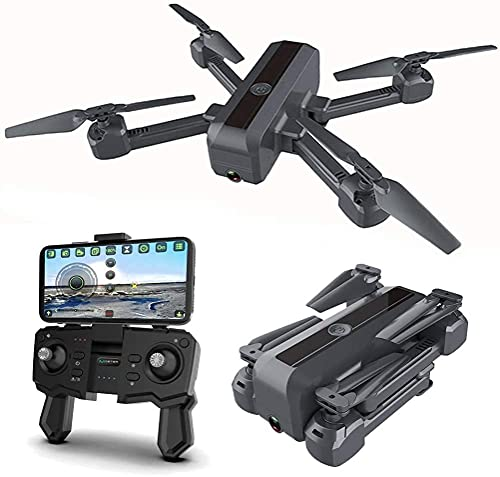 JJDSN Foldable Drone for Adult, Drone with Camera 4K HD for Adults with Optical Flow Dual Positioning System, 90deg; ESC Camera, FPV WiFi Transmission Live Video with 2 Batteries