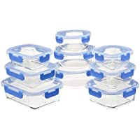 18-Piece Amazon Basics Glass Locking Lids Food Storage