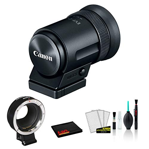 Canon EVF-DC2 Electronic Viewfinder (Black) 1727C001 Bundled with Lens Adapter Kit for Canon EF/EF-S Lenses