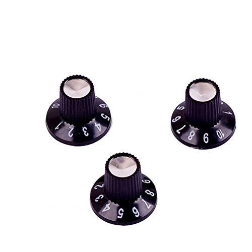 Amplificador Perillas Efecto del Pedal De La Guitarra Eléctrica Amperio Sombrero De Copa del Reemplazo Control De Volumen para Fender 6mm Eje 3pcs