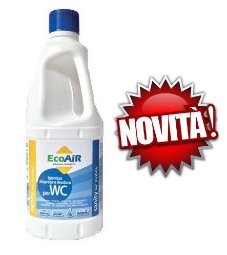 Sanity WC liquide pour réservoir eaux noires WC Camper principe actif Aqua Kem * * * 1 bouteille de 1 litre * * *
