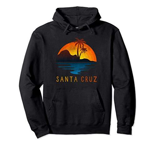 Santa Cruz California Surfing Vintage Retro Playa Palma Sudadera con Capucha