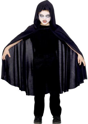 Enfants Halloween noir capuche Cape