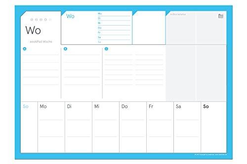 weekPad A4 | der praktische Wochenplaner als Abreißblock im A4-Format, Wochen-ToDos, Termine, Vorschau, Notizen