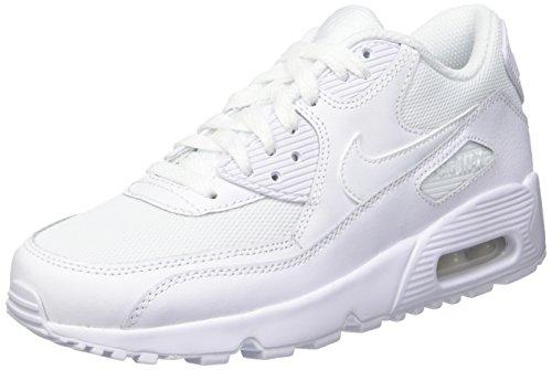 Nike Air Max 90 Mesh Gs 833418-100 Kinder, Weiß, Größe: 38,5 EU