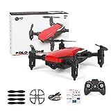 siwetg Mini LF606 - Drone giocattolo quadrirotore radiocomandato, pieghevole, WiFi, FPV, 2,4 GHz, 6...