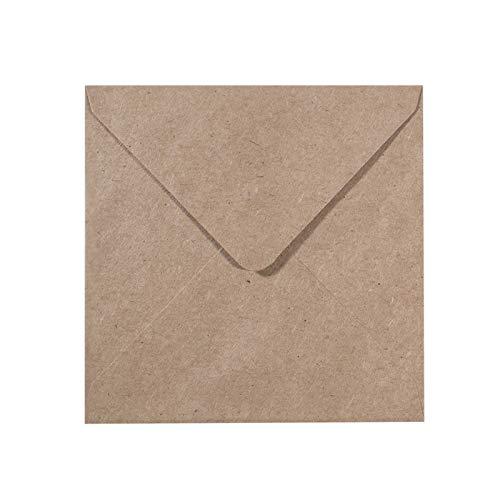 Vaessen Creative Florence Briefumschläge Quadratisch Groß Kraft Braun, 25 Stück, für Geburtstagskarten, passende Faltkarten erhältlich