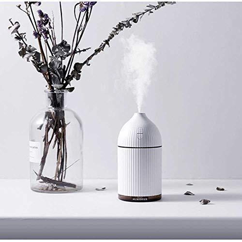 YSNMM witte 300 ml ultrasone luchtbevochtiger Home aroma diffuser voor etherische oliën Luchtbevochtiger Waternevel met kleurrijk - licht