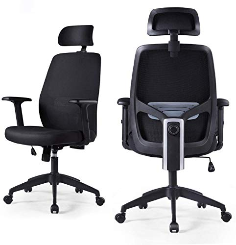 LIANFENG Ergonomic Office Chair, High Back Executive Swivel Computer Desk Chair Breathable Mesh Task...