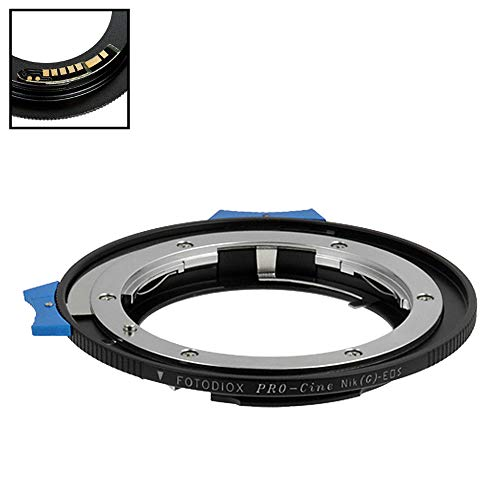 Fotodiox Pro Lens Mount Adapter Compatible with Nikon Nikkor F Mount G-Type D/SLR Lens to Canon EOS (EF/EF-S) Mount DSLR Camera Body - with Aperture Control Dial and Gen10 Focus Confirmation Chip