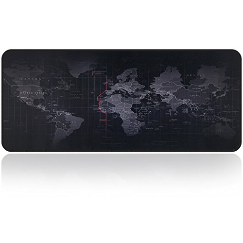 Large Gaming Mouse Map Pad with Nonslip Base|Extended XXL Size, Heavy|Thick, Comfy, Foldable Mat for Desktop, Laptop, Keyboard, Consoles & More|Enjoy Precise & Smooth Operating Experience