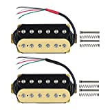 FLEOR Electric Guitar Humbucker Pickups Double Coil Guitar Bridge Pickup & Neck Pickups Set - (Black + Cream)