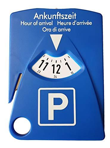 HP-Autozubehör 19943 Parkscheibe mit 4 Funktionen - Parkscheibe inkl. Gurtmesser, Parkscheinhalter und Einkaufschips