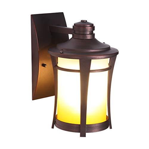 LZL Apliques de Pared Lámpara de Pared Resistente al Agua luz Pared de la Cocina hogar al Aire Libre lámpara de Pared (Color : Black)