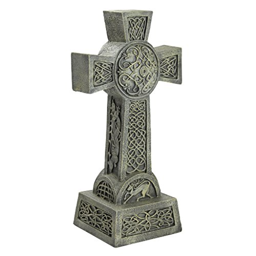 Design Toscano DB25692 Donegal Celtic High Irish Cross Memorial Statue, Single