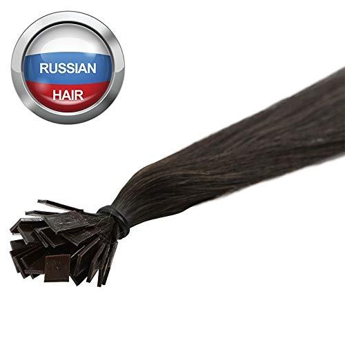 Extensions Cheveux Kératine 25 mèches russes 0,8gr Brun 50cm
