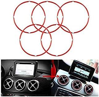 Alamor 5 Stks Rode Air Vent Outlet Ring Cover Voor Mercedes Benz Cla Gla180 200 220 260