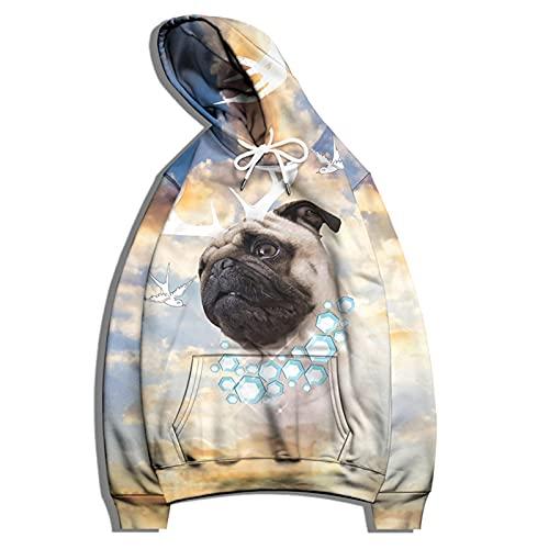 SSBZYES Felpa con Cappuccio da Uomo Felpa con Cappuccio da Uomo di Grandi Dimensioni Giacca da Uomo Stampata di Moda Maglione per Amanti Maglione Casual T-Shirt Manica Lunga da Uomo