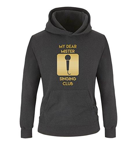 Comedy Shirts - Sweat-Shirt à Capuche - Manches Longues - Fille - Noir - Small