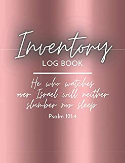 Inventory Log Book: Rose Gold Paperback Cover 120 Pages Simple Inventory Log Book For Use At Home And For Small Business /...