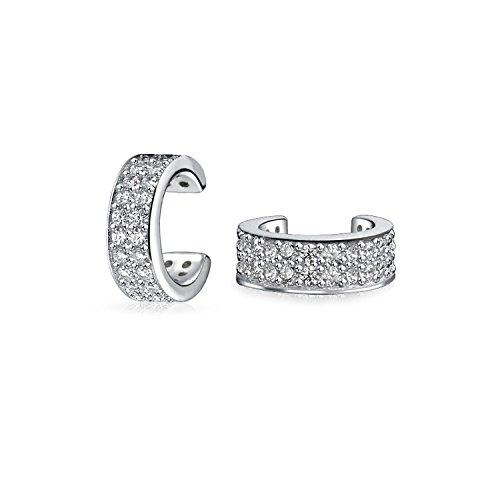 Minimalistische Zirkonia Pave CZ Band Knorpel Ohr Manschetten Helix Ohrstulpe Ohrringe Für Damen 925 Sterling Silber