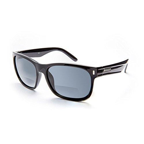 Urbanium Eyewear New York stylische Sonnenbrille mit Sehstärke Modell New York mit polarisierten Gläsern in schwarz in verschiedenen Stärken (+2.00)