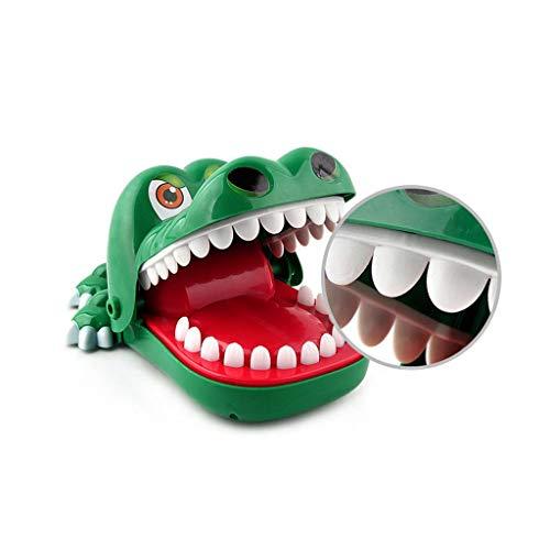 Sipobuy Cocodrilo Juguete Classic Boca Dentista Bite Finger Familia Juego Niños Acción y Reflejos Juego de Habilidad Juguete, Tamaño Grande, 8.3x5.7x4.3inch