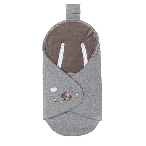 Fillikid Einschlagdecke Filliwrap Elefant grau
