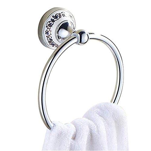 Acero inoxidable Anillo de toalla Baño cocina montado en la pared Porta toallas Cerámica, Cromado