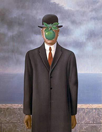 O Filho do Homem de René Magritte - 50x64 - Tela Canvas Para Quadro