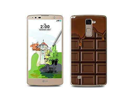 etuo Handyhülle für LG Stylus 2 Plus - Hülle, Silikon, Gummi Schutzhülle - Schokolade