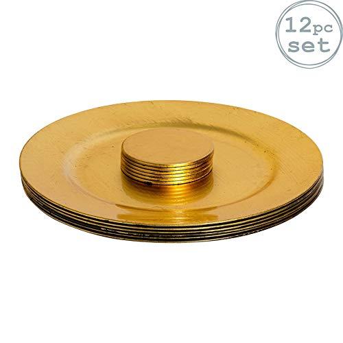 Platos de sitio y posavasos - dorados - Set de 12