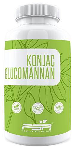 Konjac Glucomannan 180 Kapseln, 570 mg pro Kapsel, Abnehmen mit der Konjak-Wurzel, Vegan - Made in Germany - FSA Nutrition