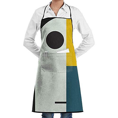 Bauhaus Age Unisex Delantal de Cocina de Cocina Ajustable con Bolsillos para cocinar Hornear Elaboración Jardinería y Barbacoa
