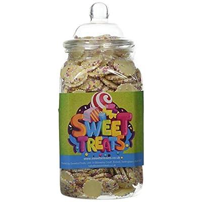 mr tubbys white chocolate jazzies - sweets n treats green label - medium jar 750g(pack of 1) Mr Tubbys White Chocolate Jazzies – Sweets n Treats Green Label – Medium Jar 750g(Pack of 1) 41ptX8XZCkL
