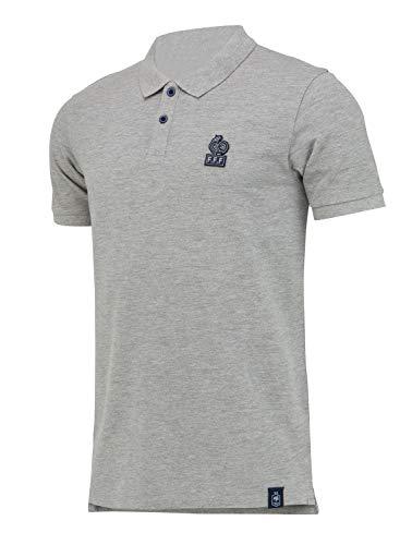 Equipe de France de Football Frankreich-Nationalmannschaft Polo-Shirt FFF, offizielle Kollektion, Herrengröße XX-Large grau
