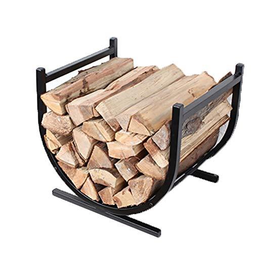 Cuna de madera de acero, Moderno Leña cesta, metal Log titular Carrier...