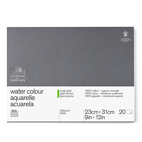 Winsor & Newton 6663271 Bloc Acuarela Profesional 300 g. Grano Grueso, algodón, Blanco, 25x35 cm