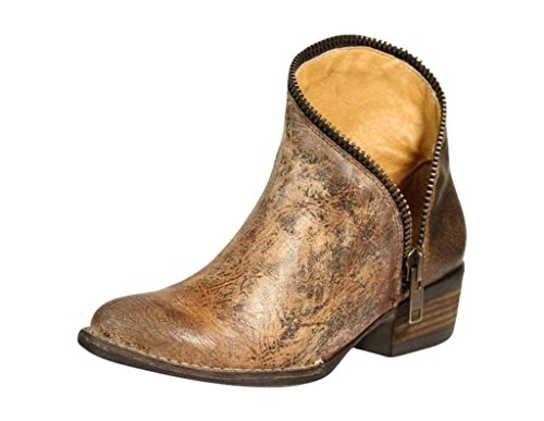 Corral Ld Golden Zipper J Toe Ankle Boot ,Size 8.5