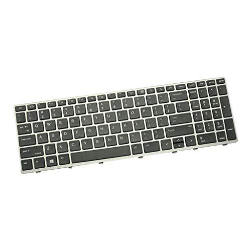 H HILABEE Englisch Ersatz Tastatur Notebook Keyboard Ersatztast für HP Elitebook 850 G5 755 G5 ZBook 15u G5 Laptop, Schwarz