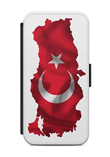 Kompatibel mit Samsung Galaxy S9 Flipcase Handytasche Hülle mit Magnetverschluss auffklappbar Türkei Türkiye Fahne Flagge
