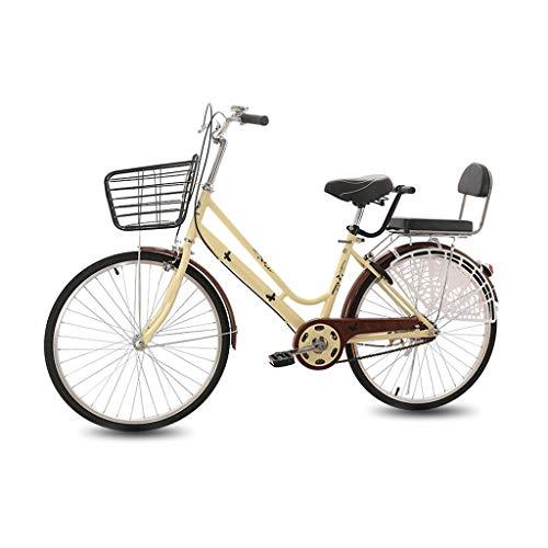 Bike For Bicicleta, De Baja Luz De Cálculo De Amortiguación for Bicicleta, Ligera Student for Hombres Y Mujeres, 24/26 Pulgadas De Una Sola Velocidad, for Los Adultos Commuters Estudiante Unisex City