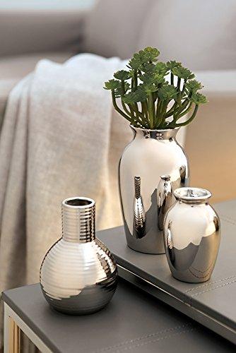 Fink ZOLA/Vase,Silber,Porzellan/H.16cm,D.8cm