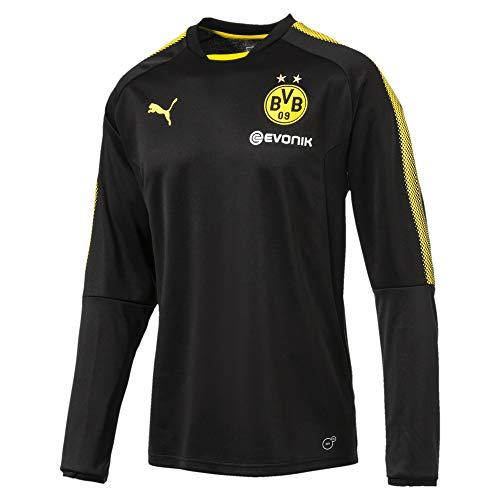 PUMA Herren Mantel BVB Training Sweat with Sponsor Logo, puma Black-Cyber Yellow, M, 751775 02