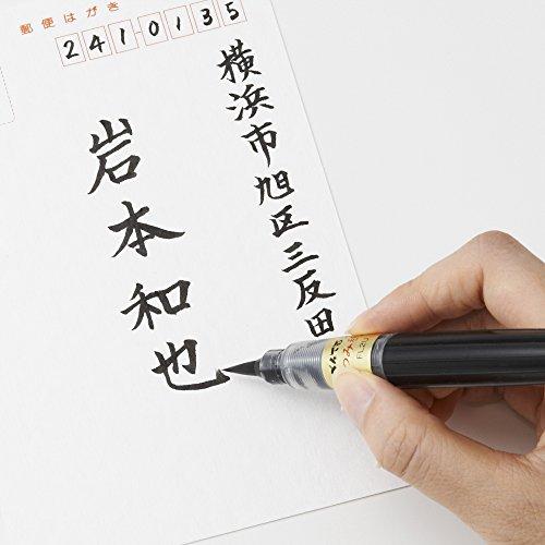 ぺんてる筆ペンぺんてる筆つみ穂XFL2U黒