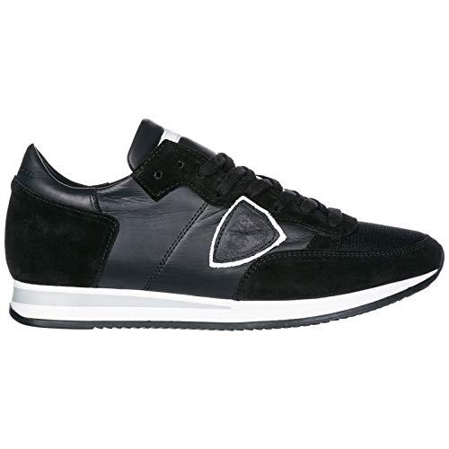 Philippe Model Herrenschuhe Herren Wildleder Sneakers Schuhe Tropez Schwarz EU 44 A1UNTRLU-5004
