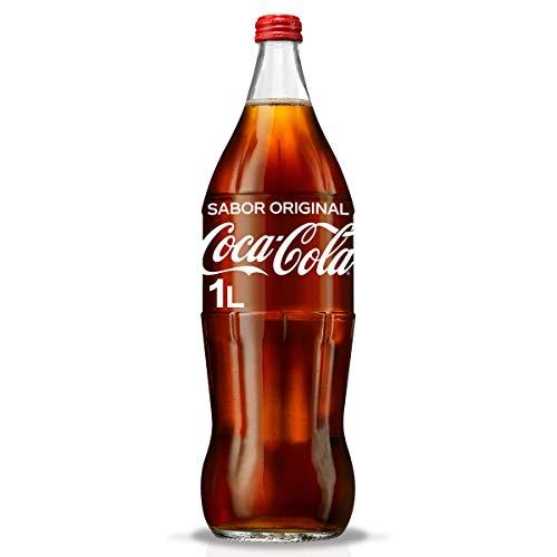 Coca Cola 1 Liter in der gebrandeten Glasflasche im Retro Style limited Edition Glas Flasche Coke