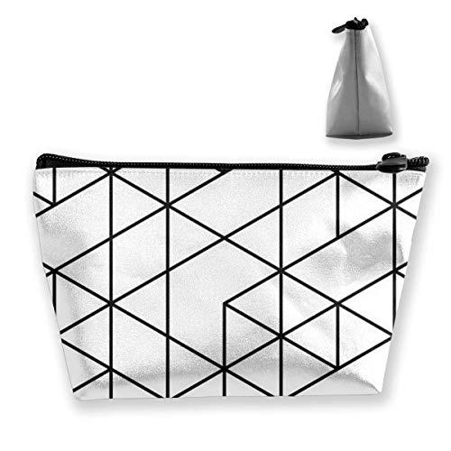 Trapèze sac cosmétique sac de rangement Triangle simple noir blanc fermeture éclair multifonctionnel Accory portefeuille sac de rangement voyage shopping en plein air porte-monnaie organisateur cadeau