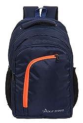 POLESTAR Space Navyorg 35 LTR Casual Travel bagpack/School Backpack Bag