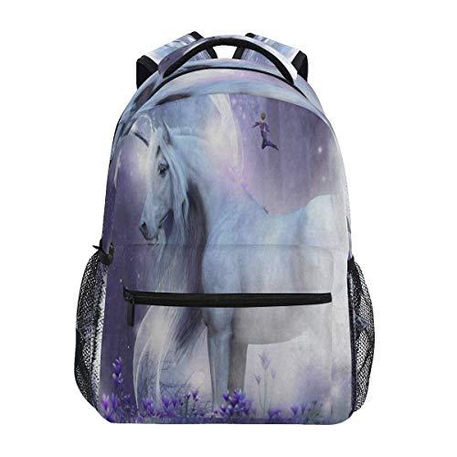 High School Bookbag Bag,Unisex Rucksack,Laptop Backpacks for Men Women,Travel Daypack,Magic Unicorn Star Glitter
